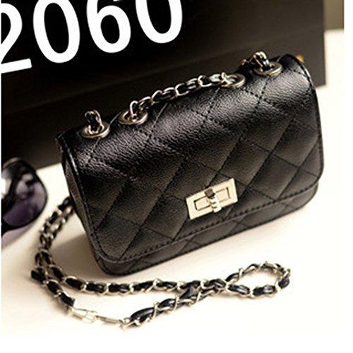 Purse Evening Bag Crossbody Bag with Bag Messenger Black Body Mini Women For Chain Cross Handbag 4zwxvvgqU