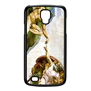 Creation of Adam by Michelangelo Black Hard Plastic Case for Galaxy S4 Active by Painting Masterpieces + FREE Crystal Clear Screen Protector
