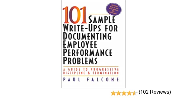 sample employee write ups