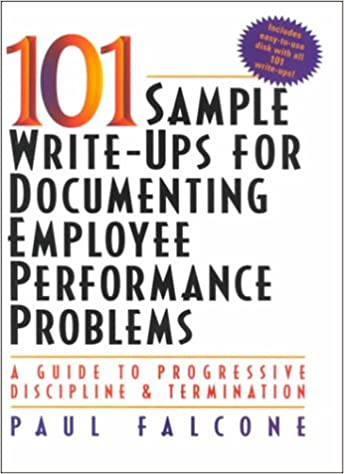 Sample WriteUps For Documenting Employee Performance Problems