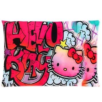 Amazon.com: DiyCaseStore hello kitty Graffiti personalizado ...