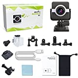 Sports Action Camera 4K Wi-Fi Mini Full HD 4k Cam Waterproof 30M Helmet Bicycle Video Camera with Kit of Accessories (Standard Edition, Action Camera)