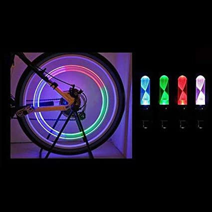 New Night Light 7 Color Bike Decoration LED Light Bicycle Accessories Tire Lamp