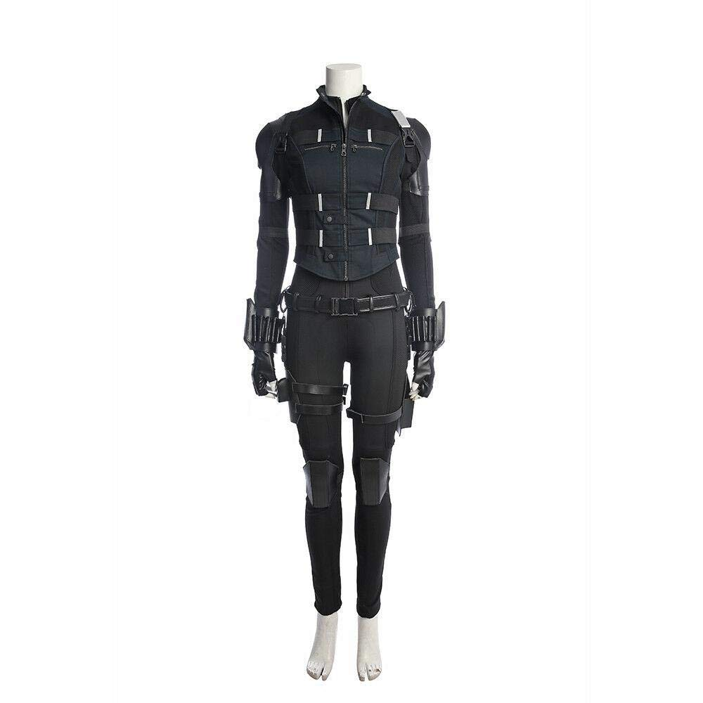 Costume Set Without Stiefel XXL AV  Infinity War schwarz Widow Cosplay Kostüm Scarlett Johansson