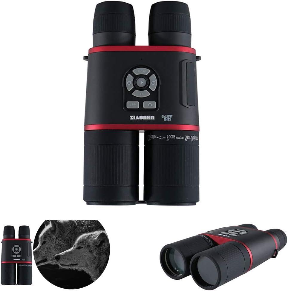 SSeir HD Binocular Digital Vision Nocturna Prismáticos, Infrarrojo GPS Posicionamiento Brújula Grabadora De Vídeo con TFT LCD Y Cámara De Infrarrojos para La Vida Silvestre Día Y Noche