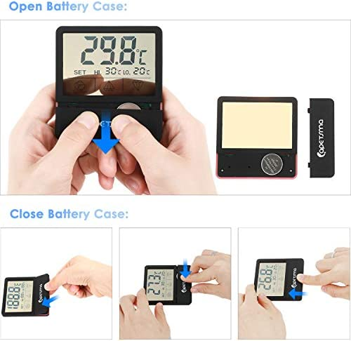 Mini Termómetro digital para acuario pantalla táctil 8