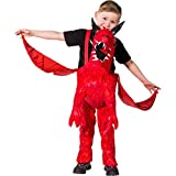NET TOYS Red Dragon Carrying Man Costume | Dragon Ridingg on Shoulders Children | Kids Carrying Costume Firedrake