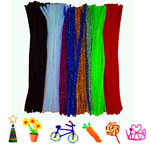 Craft Pipe Cleaners Chenille Stems Colors 300 Pieces for DIY Art Creative (0.24 x 12 Inch)