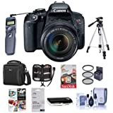 Canon EOS Rebel T7i DSLR with EF-S 18-135mm f/3.5-5.6 IS STM Lens - Bundle with Camera Case, 64GB SDHC Card, Tripod, Remote Shutter Trigger, 67mm Filter Kit, Cleaning Kit, Software Package and More