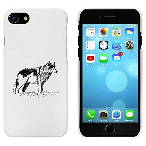 Blanc 'Loup' étui / housse pour iPhone 7 (MC00064154)