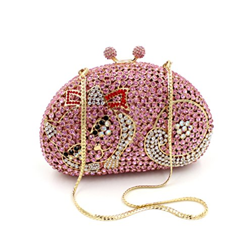 Favorite à luxe sac soirée sac sac de à Mesdames A main Chat d'embrayage strass fête Petit de de main mariage ScZPaZn