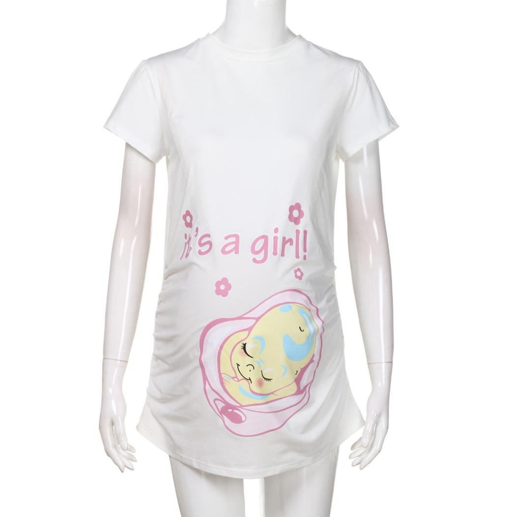 7d3d91a5d Amazon.com: It is girl Pregnancy Pregnants T Shirt Baby Bump Tee Maternity Nursing  Shirt for Mom to Be (S, Black): Health & Personal Care