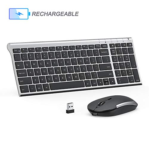 Rechargeable Wireless Keyboard Jelly Comb