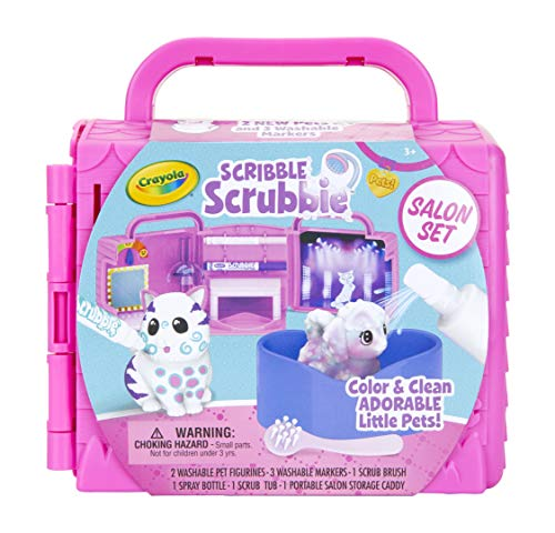 Crayola Scribble Scrubbie Pets, Beauty Salon Playset with Toy Pets, Gift for - Pet For Toys New Kids