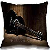 Hign End Cotton and Polyester Pillow Case Cover music Classic Fender Guitar Throw Pillow Case Vintage Cushion Cover (Two Side )