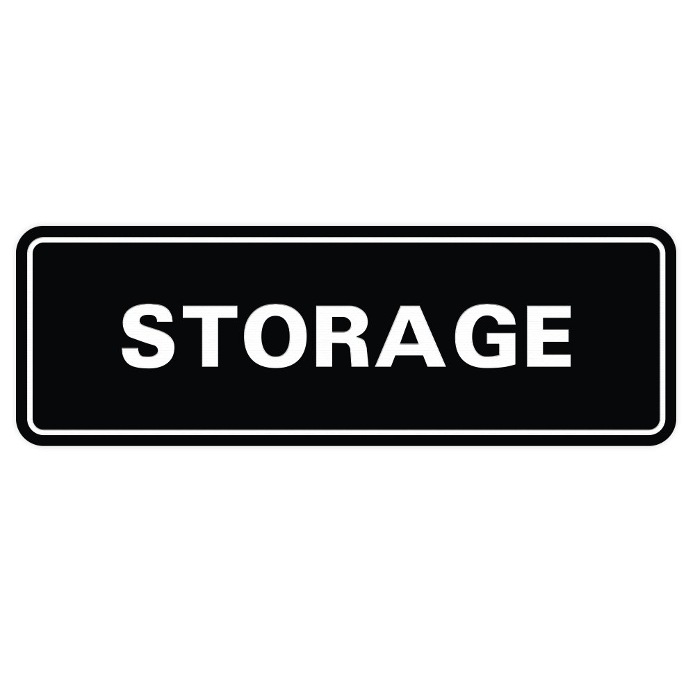Standard Storage Door/Wall Sign - Black - Large