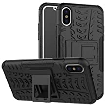 iPhone6 Case, Awesome Armor Foldable Movie Stand Slim Cover, TAITOU New Ultra Hybrid 2 In 1 Thin Anti Scratch Drop Outdoor Sport Protect Phone Coque For Apple iPhone 6S Black