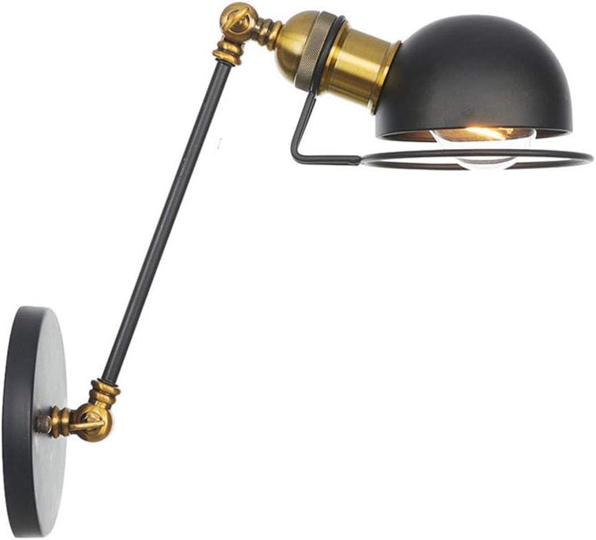 Dormitorio Bar CUTANZI Apliques de Pared Industrial L/ámpara de Pared Ajustable Luz de Metal Apliques Vintage Extensible con Brazo Largo Retro Iluminaci/ón E27 para Loft