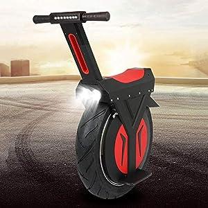 QX Scooter Monocycle Électrique, 17 '60V / 500W, Scooter Électrique, 60Km Avec Haut-Parleur Bluetooth, E-Scooter, Gyroroue Unisexe Adulte