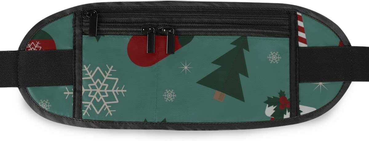 Travel Waist Pack,travel Pocket With Adjustable Belt Winter Christmas Running Lumbar Pack For Travel Outdoor Sports Walking