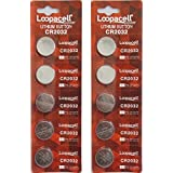 10 Pack Loopacell / 2032 / CR2032 / 3V / Lithium Coin Cell Battery