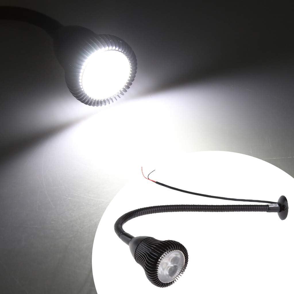 Homyl 12v 3w Lampe /à Pince De Lecture LED Adjustable USB Rechargeable