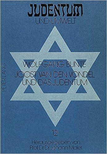 Amazoncom Joost Van Den Vondel Und Das Judentum