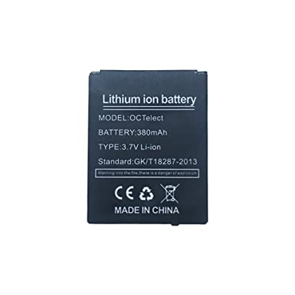 Smart watch battery DZ09 rechargable lithium battery with 380MAH capacity