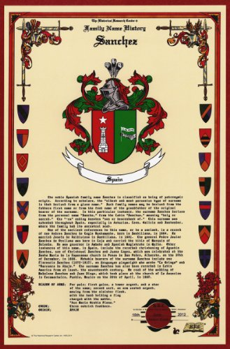 Sanchez Coat of Arms/Crest and Family Name History, meaning