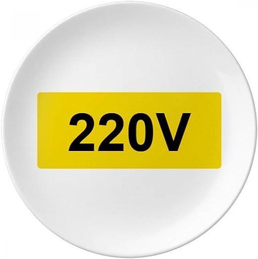 Placa decorativa de porcelana de 220 V con el símbolo de ...