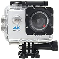 ESCENERY Waterproof 4K SJ9000 Wifi HD 1080P Ultra Sports Action Camera DVR Cam Camcorder ,170°A+ HD Wide-Angle Lens (White)