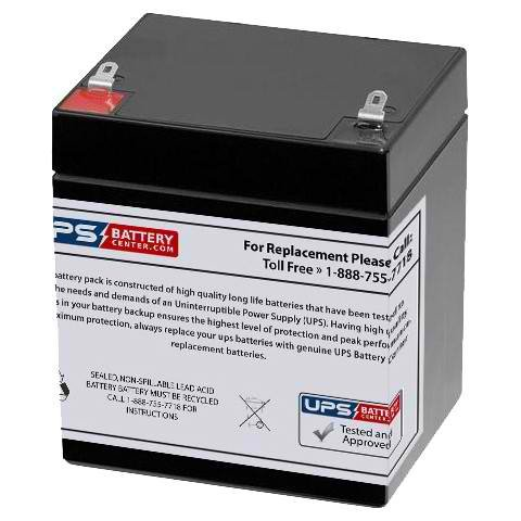 Dahua DHB1250 F1 12V 5Ah Replacement Battery with F1 Terminals from UPS Battery Center