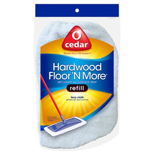Hardwood Floor 'N More Microfiber Mop with Telescoping Handle and a Hardwood Floor N More Terry Cloth Refill by O-Cedar (Image #1)