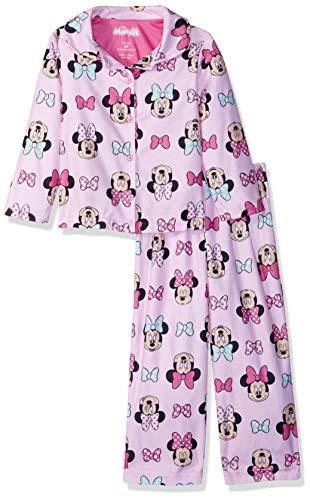 Disney Girls' Toddler Minnie Mouse 2-Piece Pajama Coat Set, Signature Pink, 2T