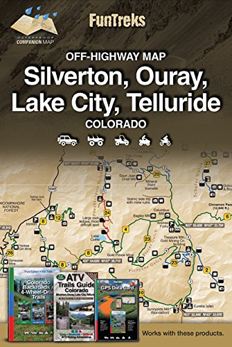Off-Highway Map for Silverton, Ouray, Lake City, Telluride Colorado ()