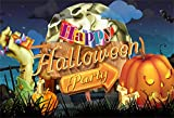 LFEEY 6x4ft Happy Halloween Background Scary Grimace Pumpkin Photography Backdrop Burning Candle Zombie Hand Candy Party Night Trick or Treat Photo Studio Props Vinyl Banner