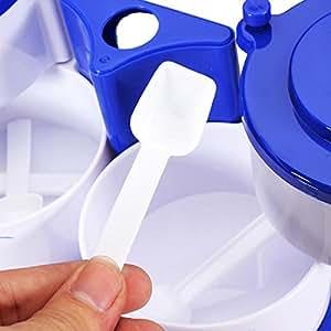Food-grade Plastic Blue-and-White Porcelain Seasoning Box Spice Jar