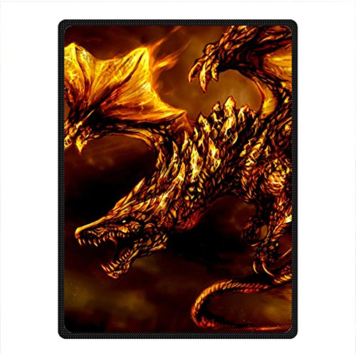 Needyou Dragon Fleece Throw Blanket Fleece 58