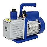 ZENY 5CFM Single-Stage 5 Pa Rotary Vane Economy Vacuum Pump 1/3HP Air Conditioner Refrigerant HVAC Air tool VP145, Blue