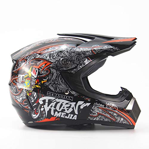 Amazon.com: Ocamo Full Protection Off Road Casco Motorcycle Moto Dirt Bike Motocross Racing Helmet Matte black 4 S: Automotive