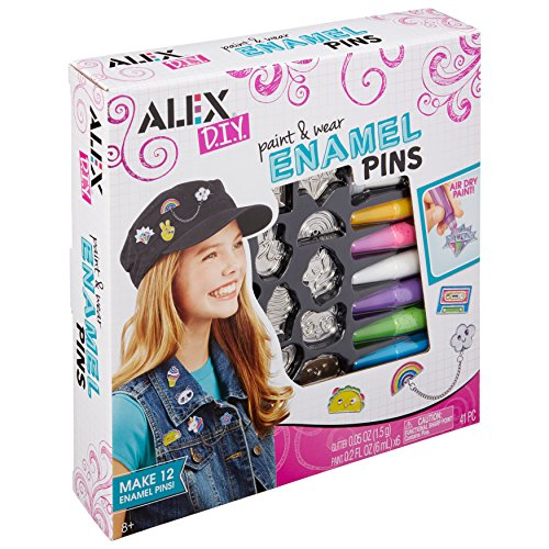 Alex Toys DIY Paint and Wear Enamel Pins(611140)