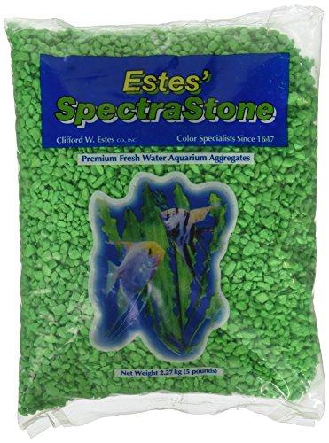 Spectrastone Permaglo Green Aquarium Gravel for Freshwater Aquariums, 5-Pound Bag