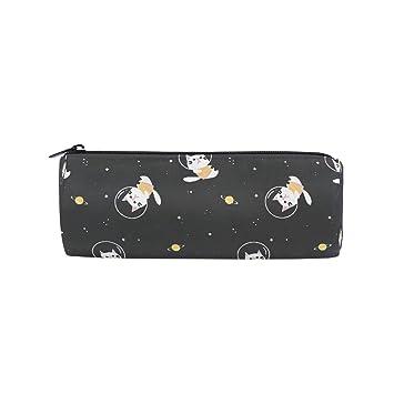 BIGJOKE Estuche para lápices, diseño de galaxia y gato ...