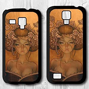 For Samsung Galaxy S4 mini / S3 mini Case, Vintage Japanese Art Pattern Design Protective Hard Phone Cover Skin Case For Samsung Galaxy S3 mini + Screen Protector
