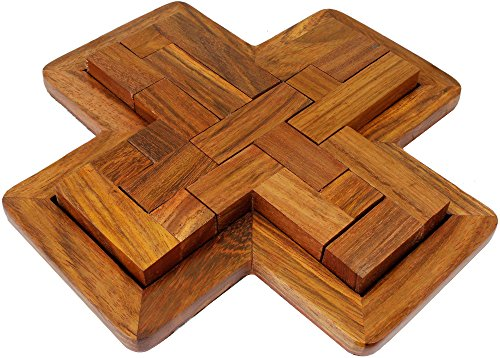 SKAVIJ Indian Handmade Wooden 9 Pieces Pentominoes puzzle Brain Teasers Creative Educational Toys Game For Gifts - 7