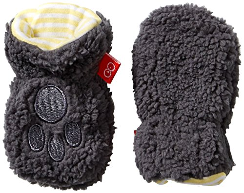 Magnificent Baby Unisex-Baby Infant Fleece Mittens, Ash/Lemon, 6-12 Months