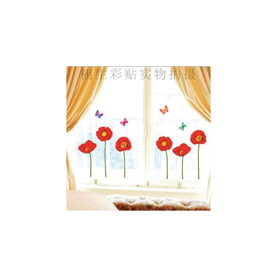 DIY Flower Butterfly Wall Sticker Decals LW973