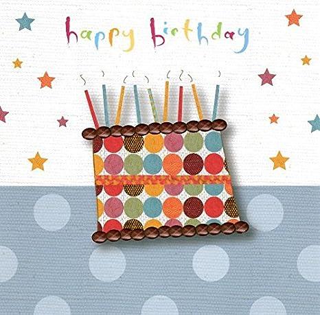Amazon.com: Andrea Jayne Feliz cumpleaños pastel y velas ...