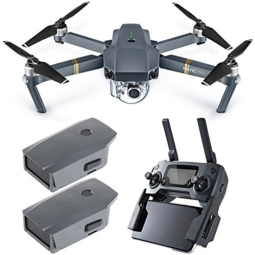 DJI Mavic Pro Quadcopter Drone with 4K Camera and Wi-Fi Dual Battery Bundle