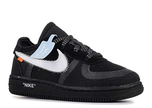quality design 61423 cfc8b Nike Air Force 1 x Off White Toddler - Black/White-Cone ...